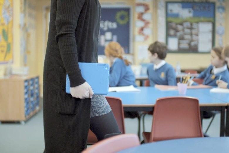 Teacher with a tablet